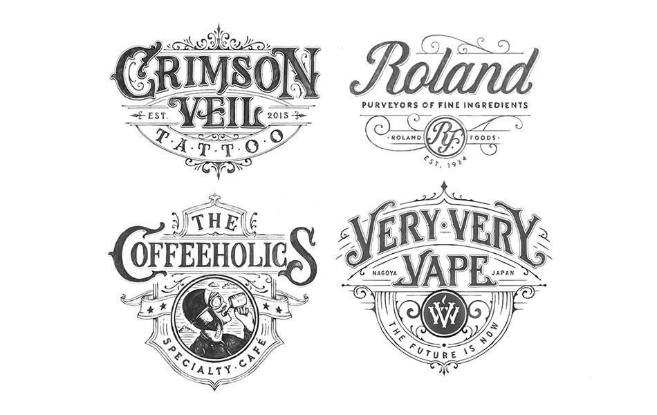 Hand Drawn Logotypes 2016