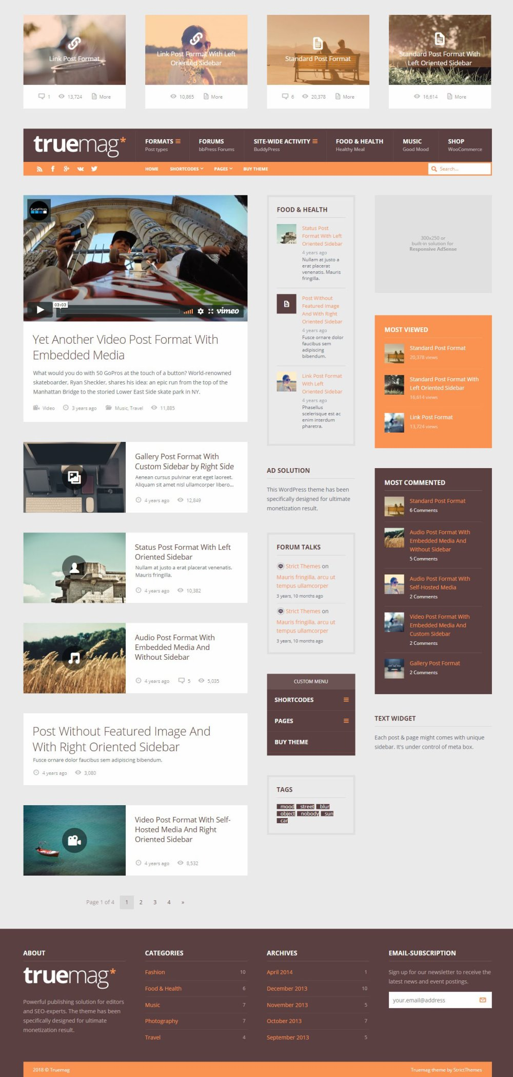 Truemag - AD & AdSense Optimized WordPress Theme