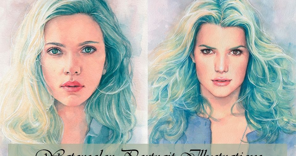 Watercolor Portrait Illustrations