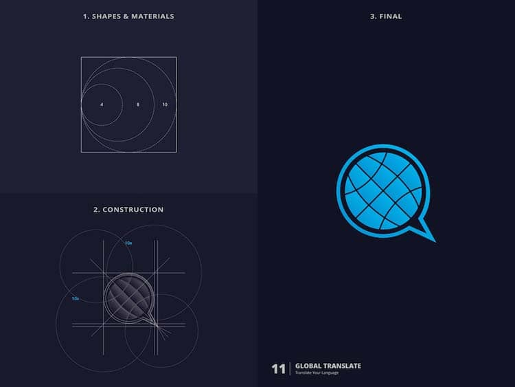 Creative Logos with Golden Ratio