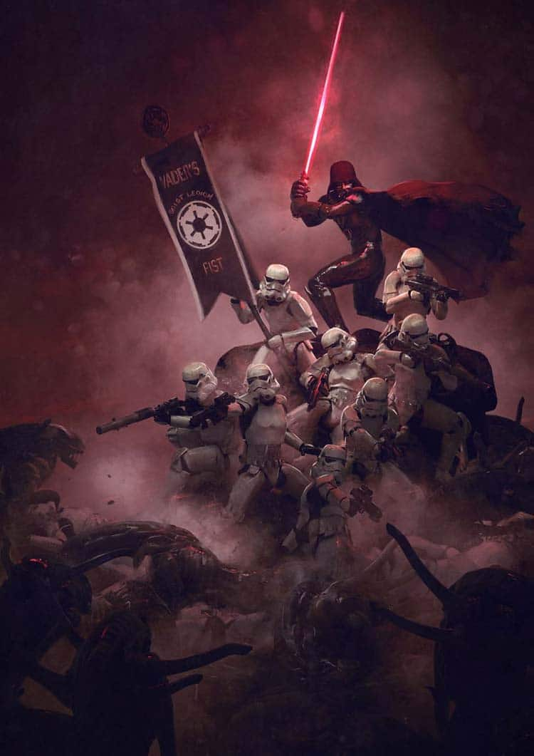 Cruel Illustrations of Storm Troopers