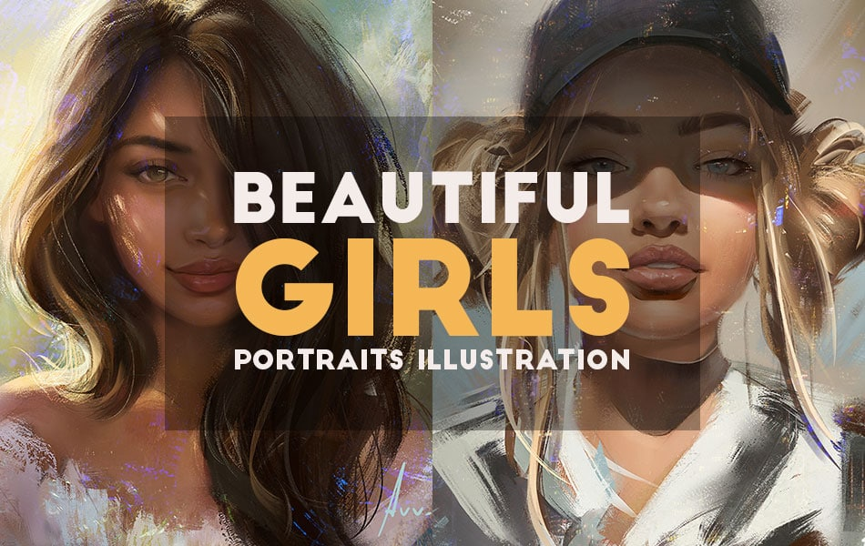 Stunning Girls Portraits Illustration