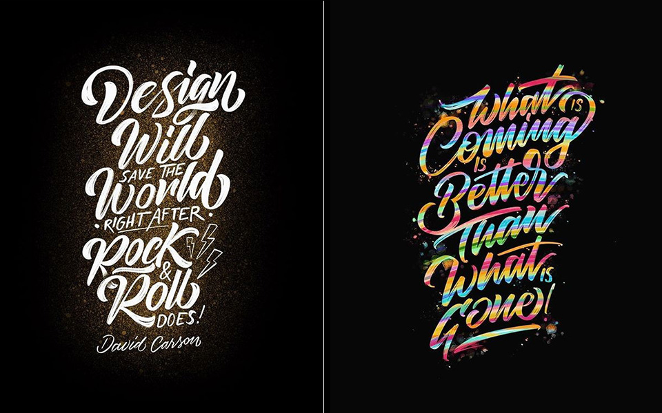 Incredible d calligraphy and lettering of tolga girgin