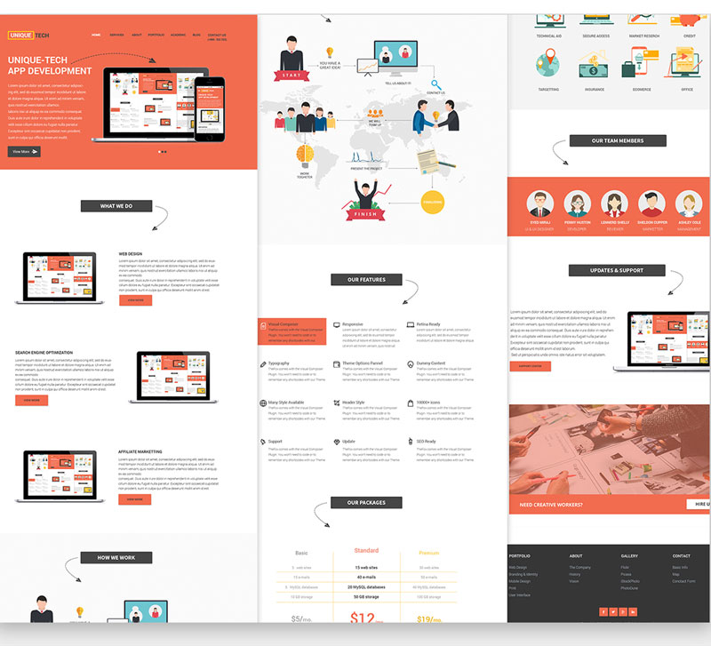 Free Corporate PSD Website Template