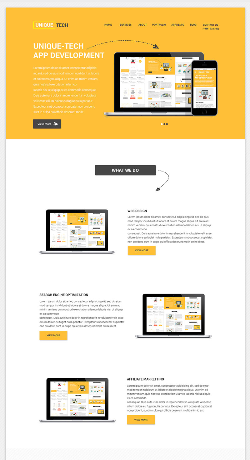 free photoshop templates - free corporate psd website template