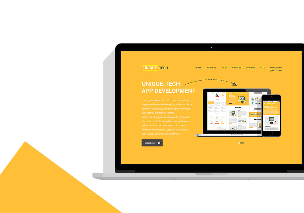 Free Corporate PSD Website Template 5