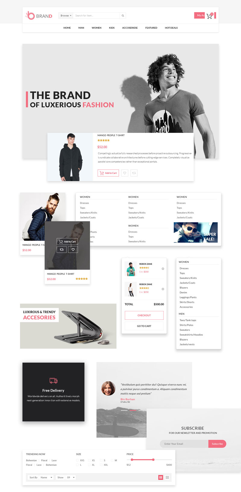 Shopping Cart PSD Template Free Download