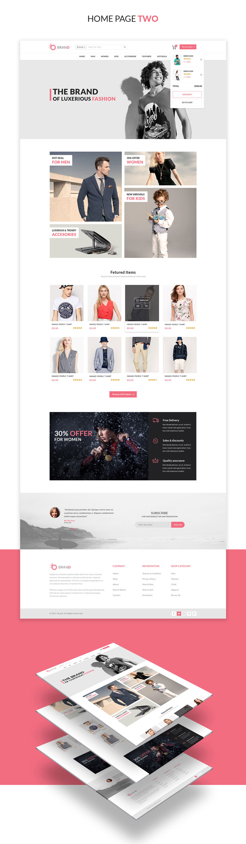 Shopping Cart PSD Template Free Download 1