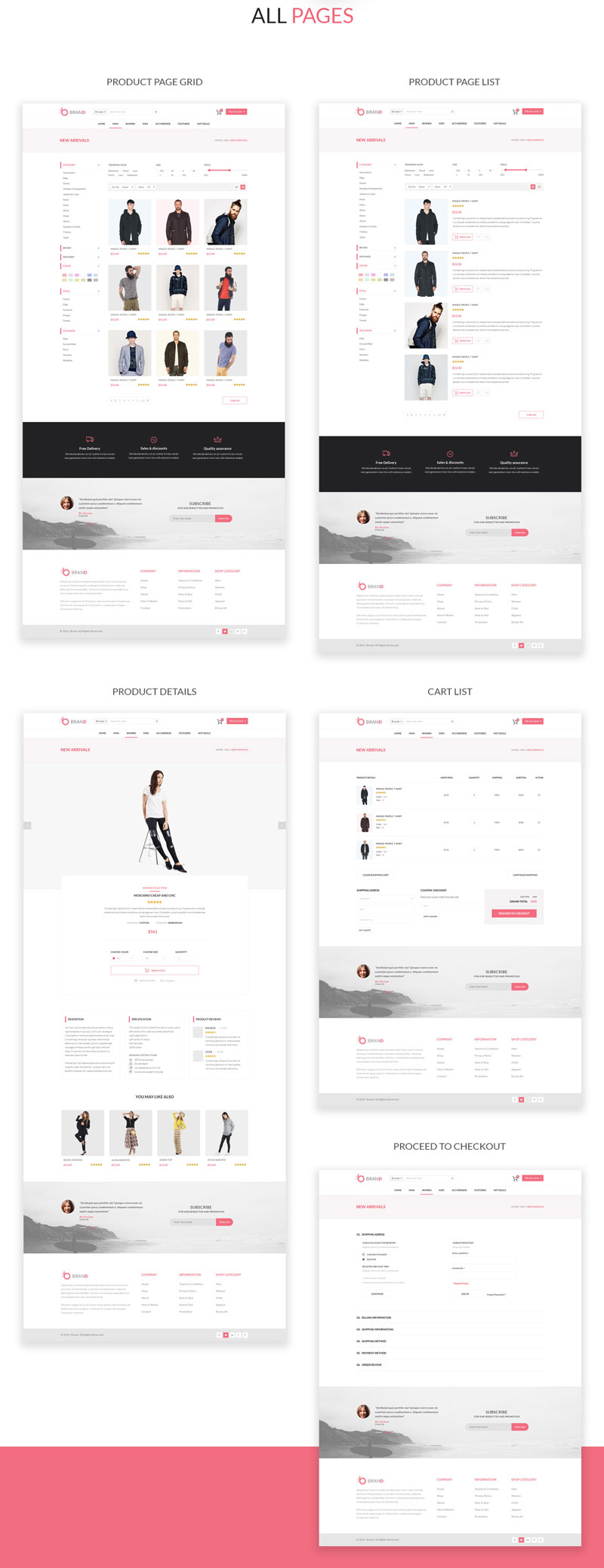 ecommerce psd templates free download