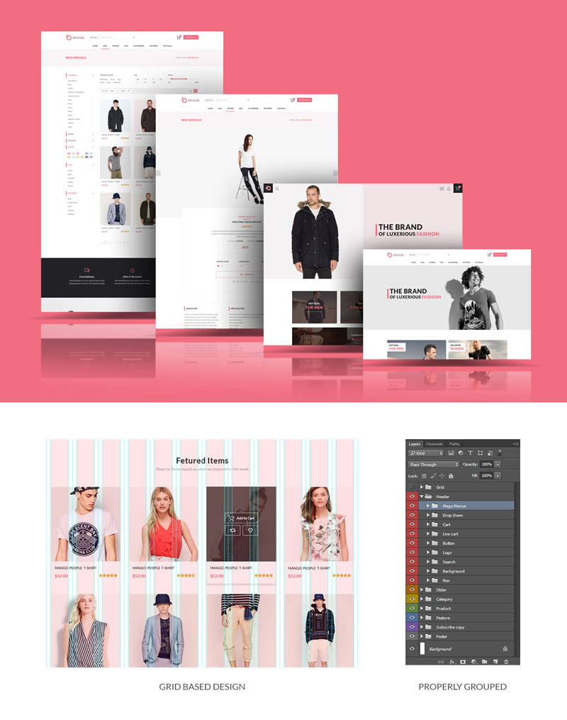 online shopping psd templates free download