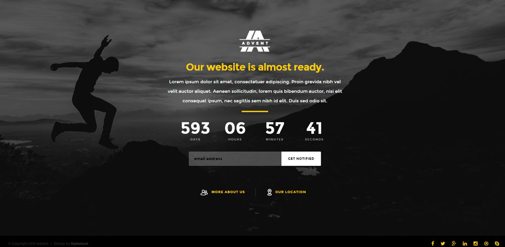 Simple under construction html page coming soon website for Simple under construction html template