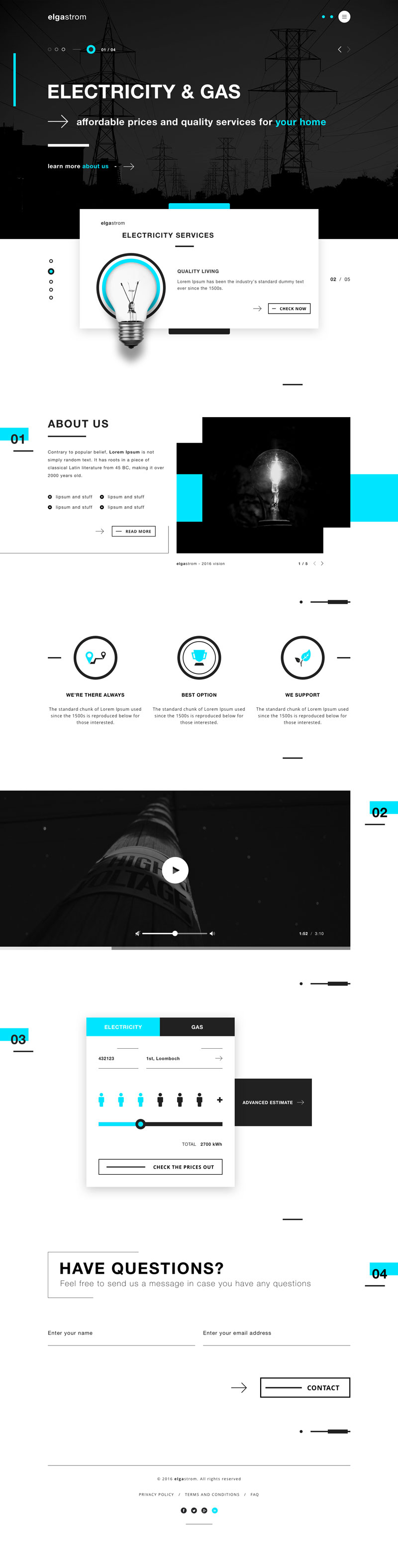 Energy Product Web Design Inspiration