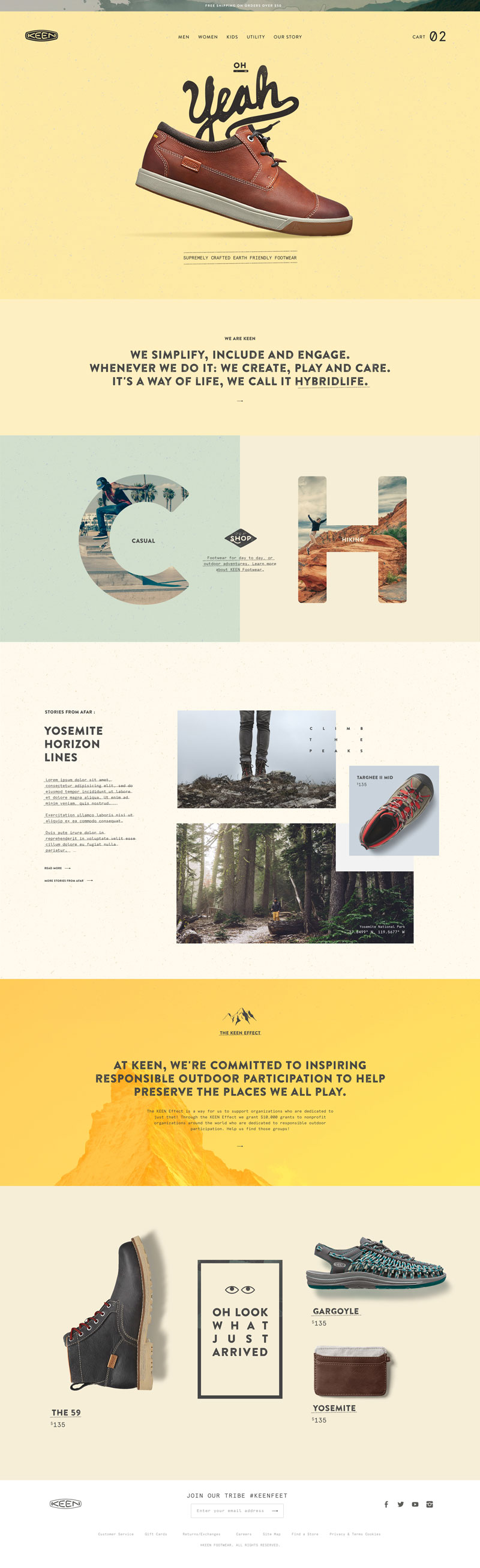 Keen Footwear Product Website Inspiration