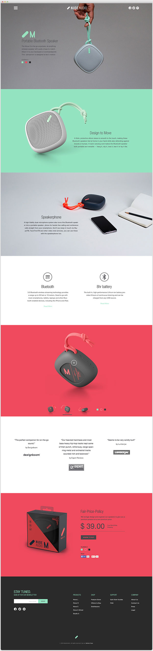 Nude Audio Product Web Design Inspiration