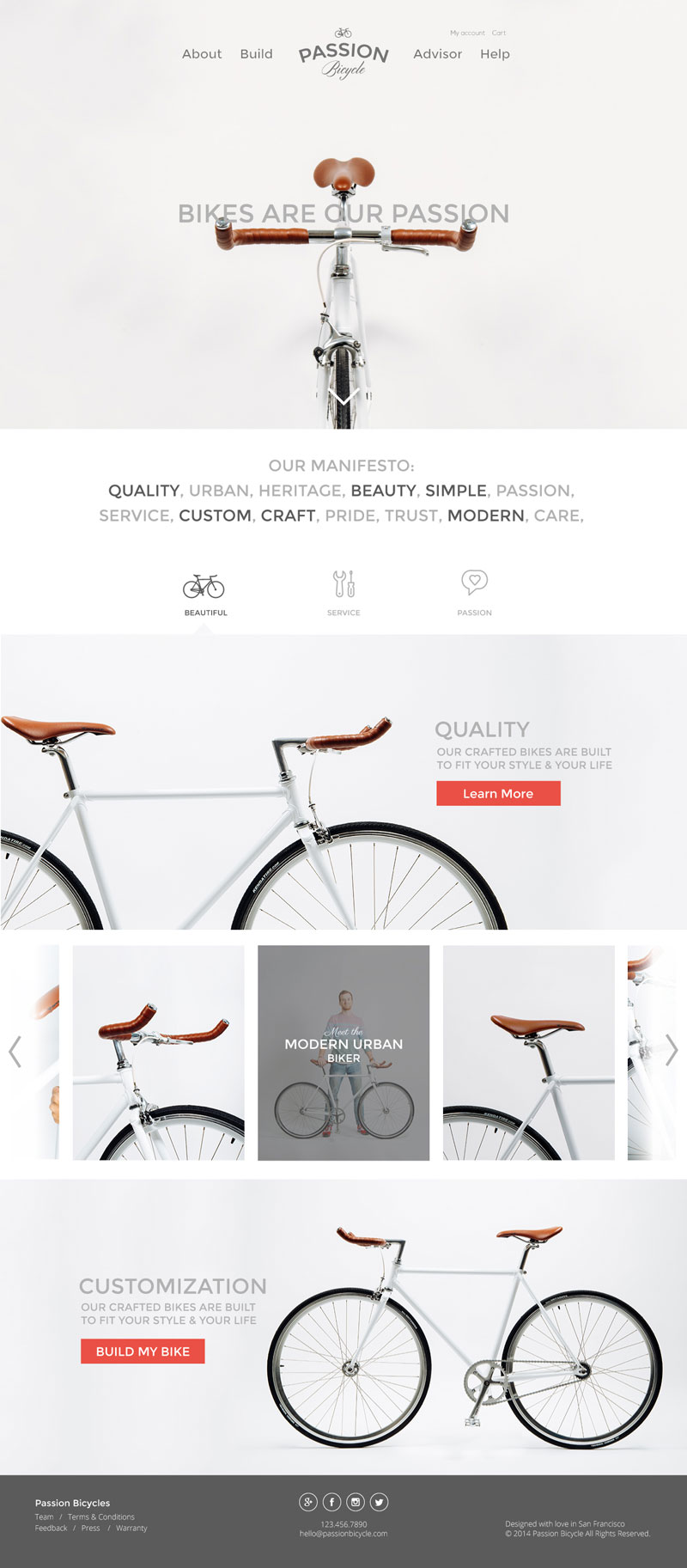 Product Website Inspiration - Passion-Bicycle