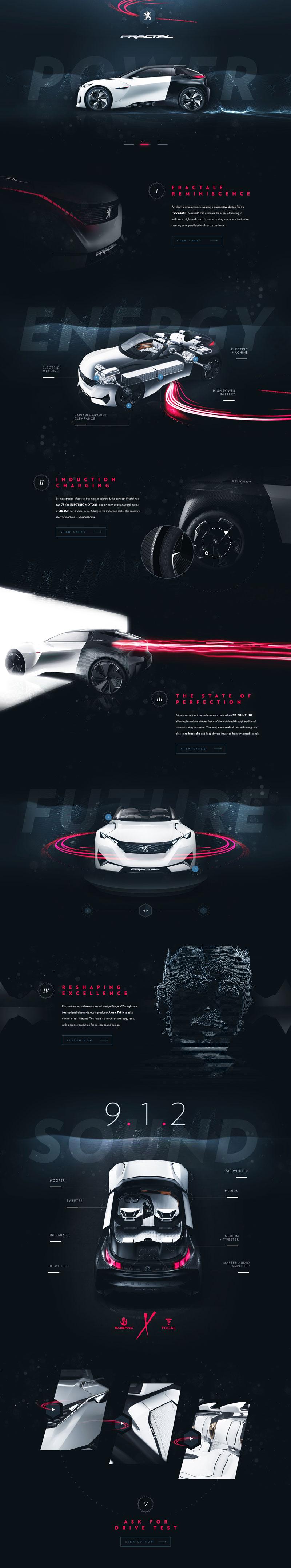 Peugeot Fractale Product Web Inspiration