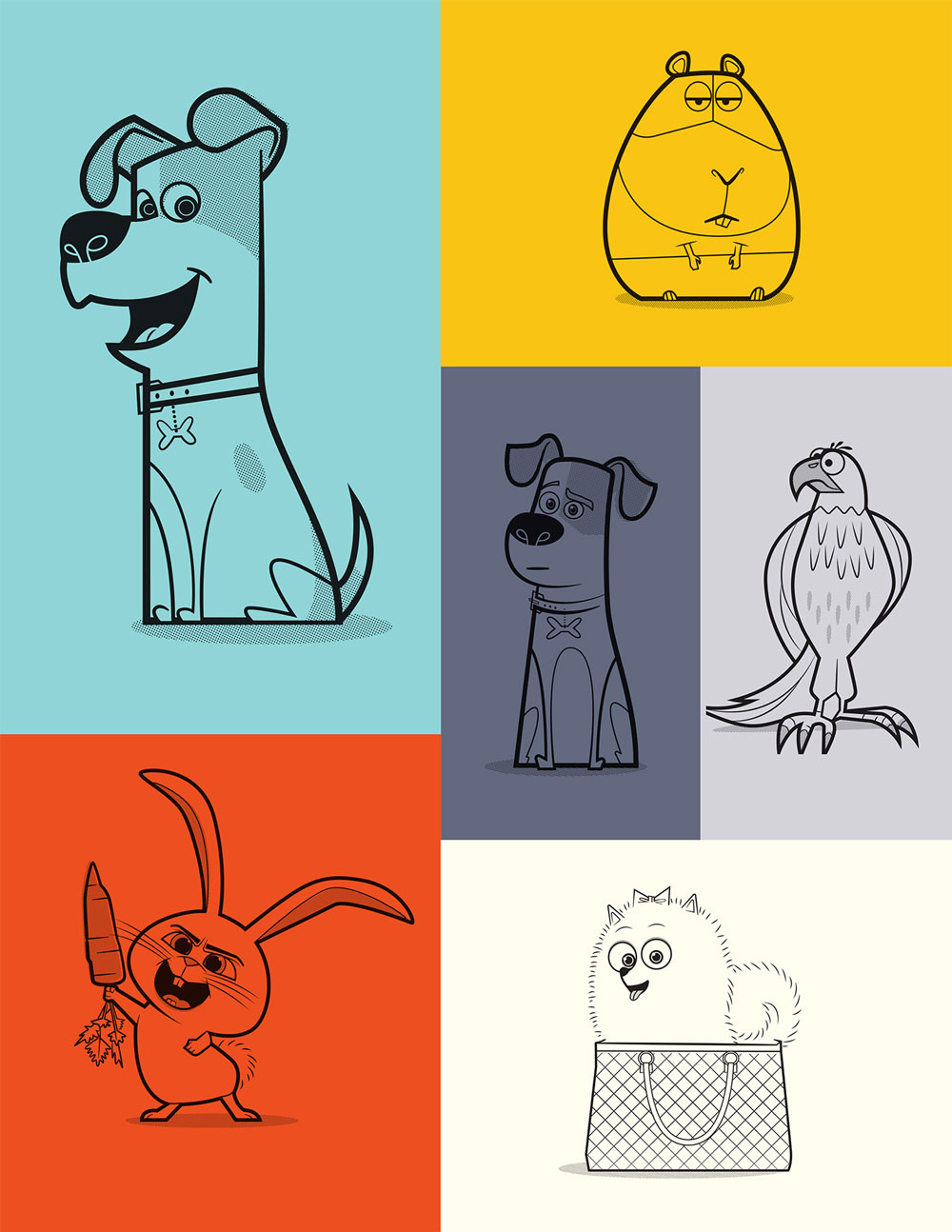 Pets Stylized Art and Product Graphics