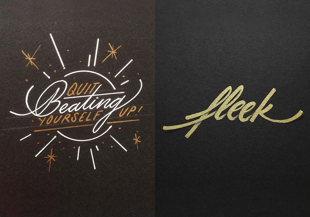 70 Beautiful Calligraphy Alphabet Selection