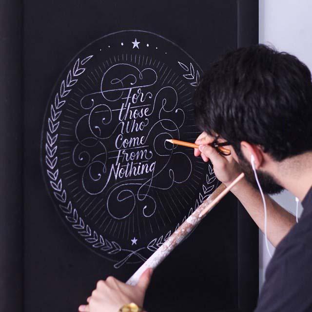 modern handwritten calligraphy