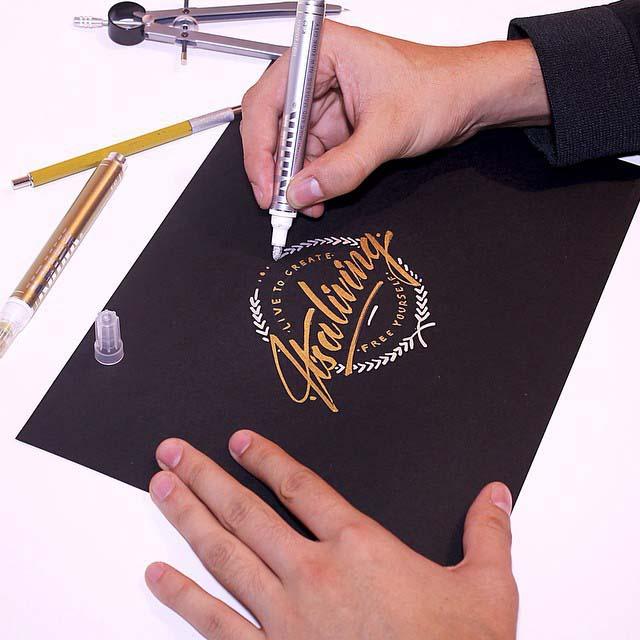 calligraphy alphabet styles