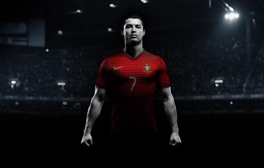 Cristiano Ronaldo Footballer Website Design
