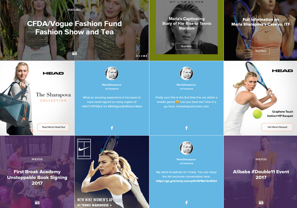 Popular Celebrity Website Design for Inspiration