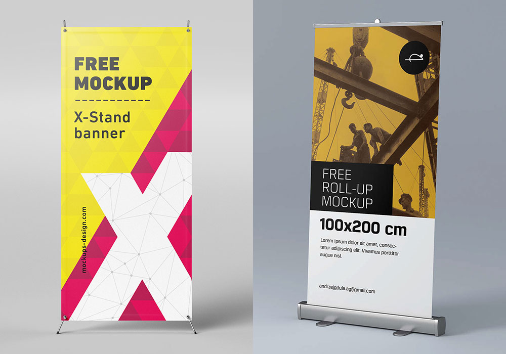 Exhibition Stand Design Mockup Free Download : Banner mockup display images vectors photos