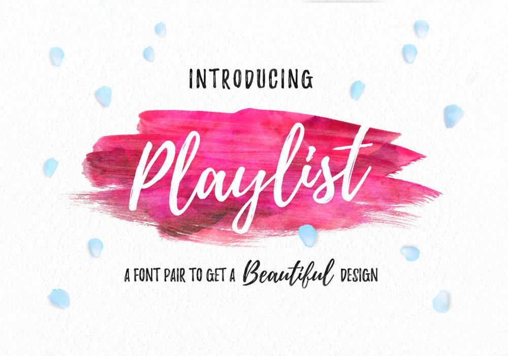Playlist Free Script Font