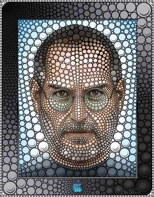 Celebrity Portraits Created with Circles