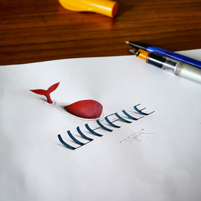 Incredible 3D Calligraphy and Lettering