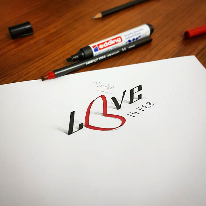 Incredible-3D-Calligraphy-and-Lettering