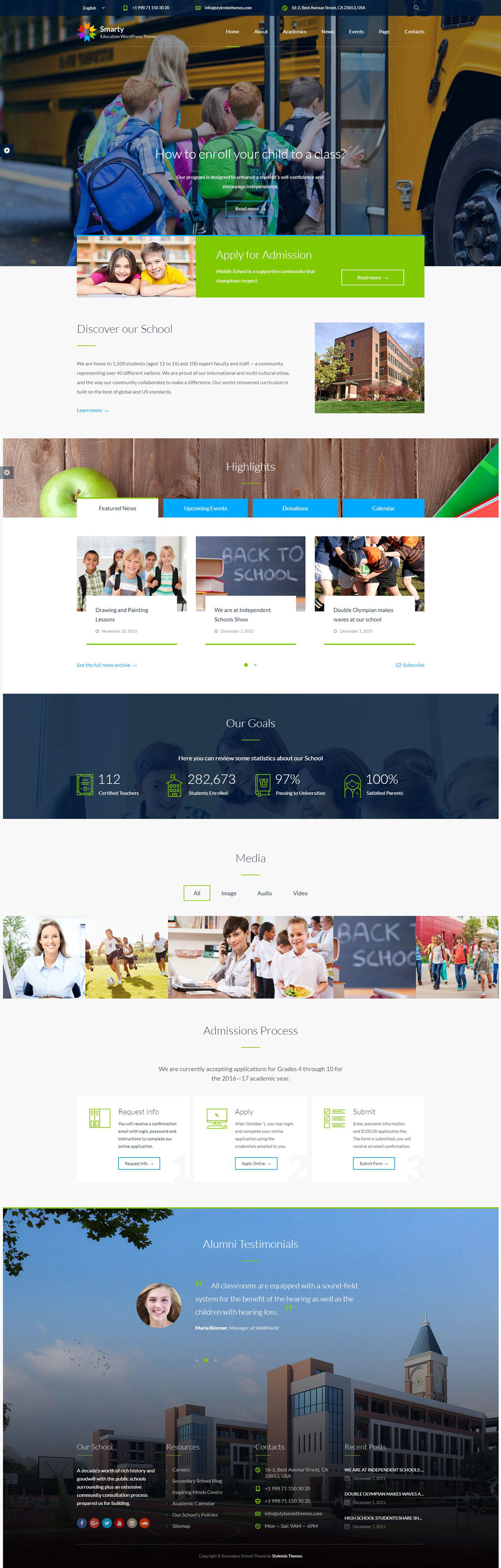 Modern and Creative School WordPress Themes