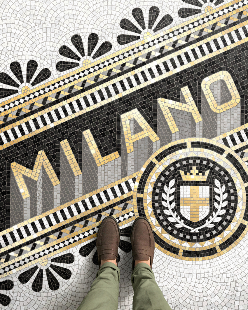 Typographic Mosaic Illustrations