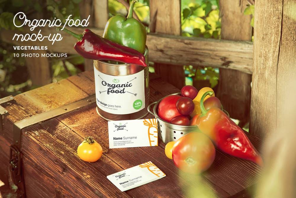 Organic Food Vegetables Mockup