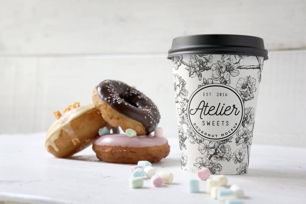 Coffee Doughnut Mockup