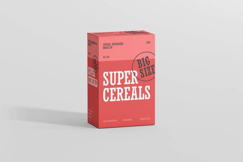 Mockup for Food Packaging Design
