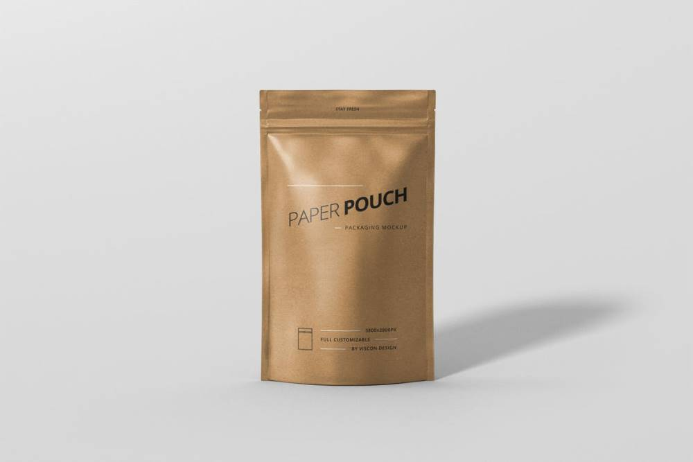 Paper Pouch Bag Mockup