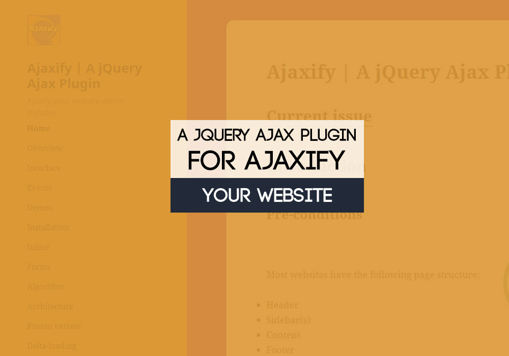 A jQuery Ajax Plugin for Ajaxify Your Website 3