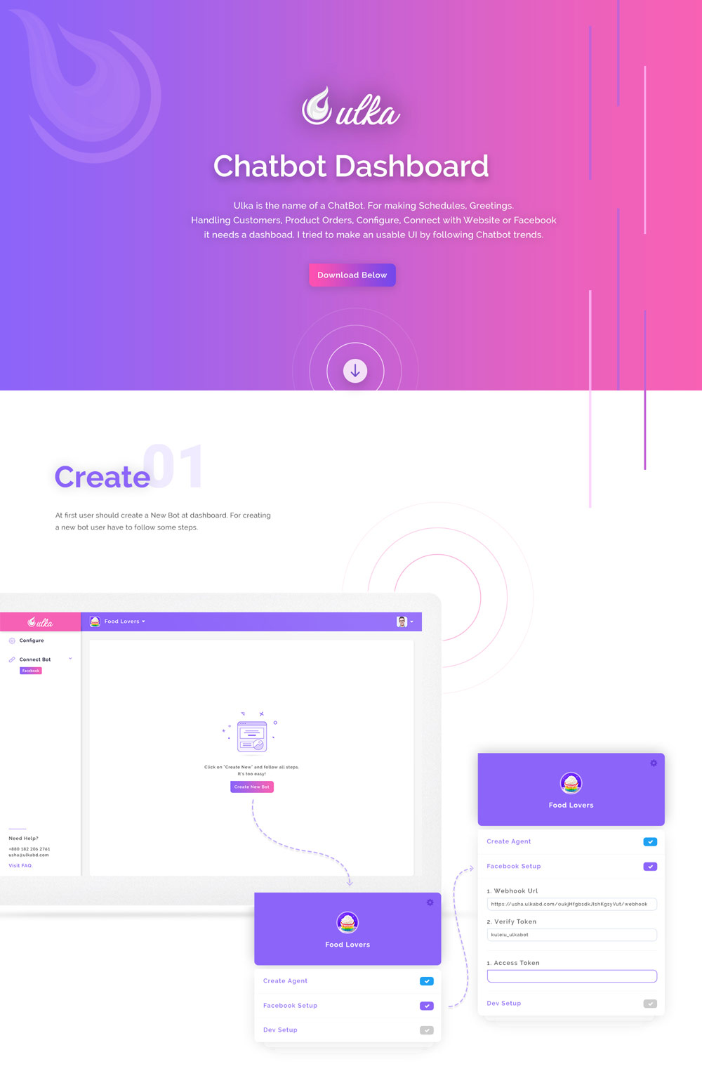 Chatbot Dashboard Design Free PSD (1)