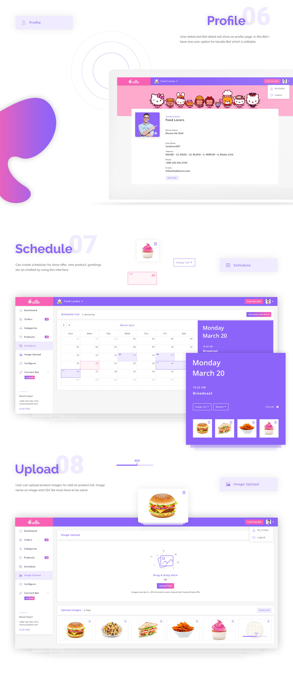 Chatbot Dashboard Design Free PSD (3)