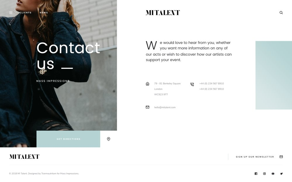 MI Talent - Free Website PSD Template for Agencies-003