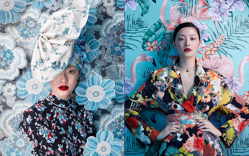 Harper's Bazaar Flower Fashion Photography
