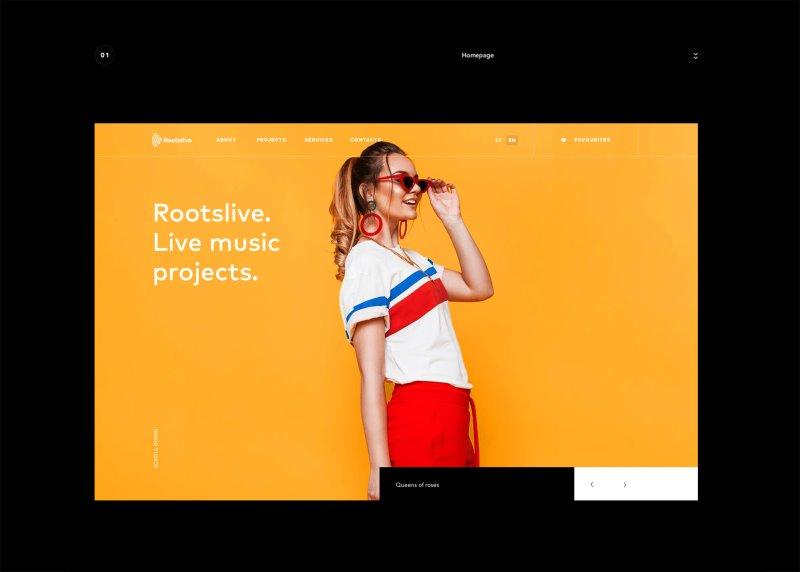 Rootslive Website Design