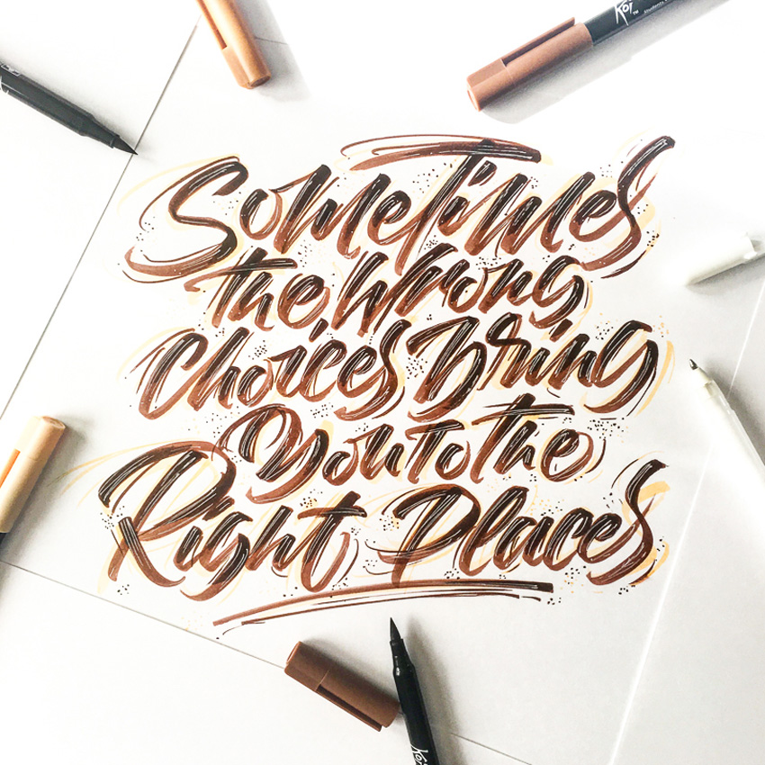 Outstanding Lettering and Typography Designs for Inspiration 48