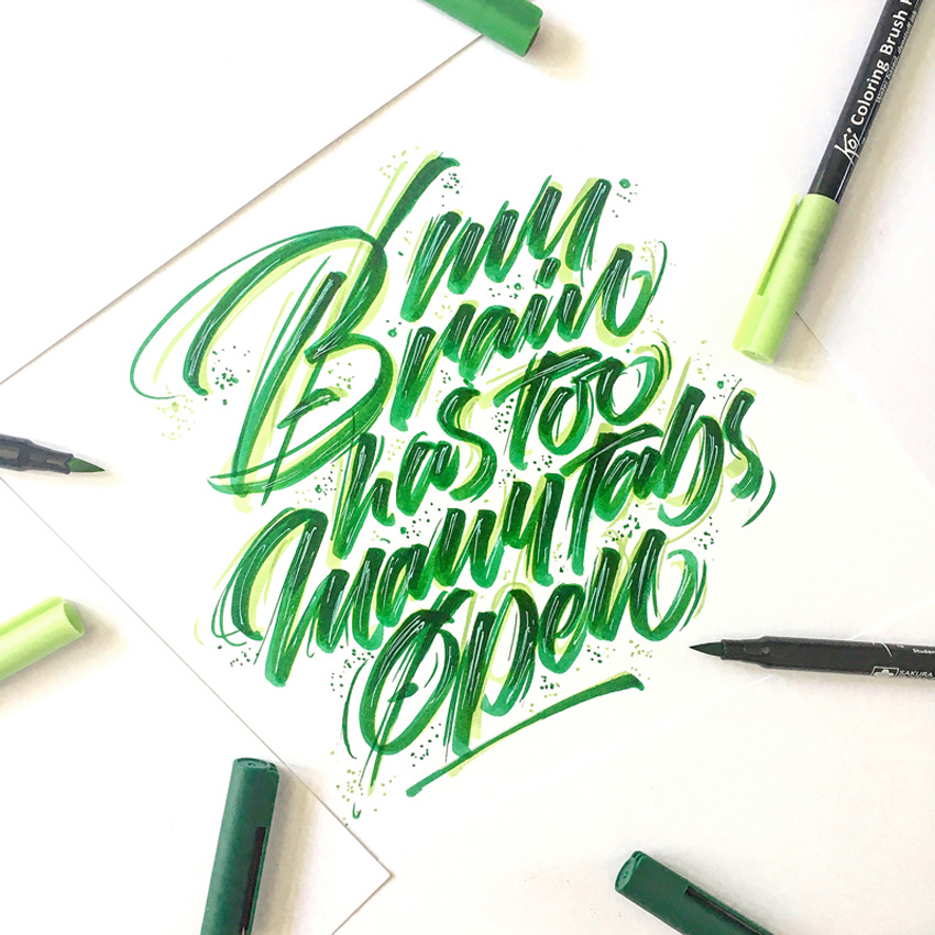 Outstanding Lettering and Typography Designs for Inspiration 54