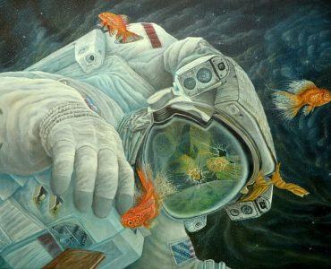 Fish Food Surreal Painting
