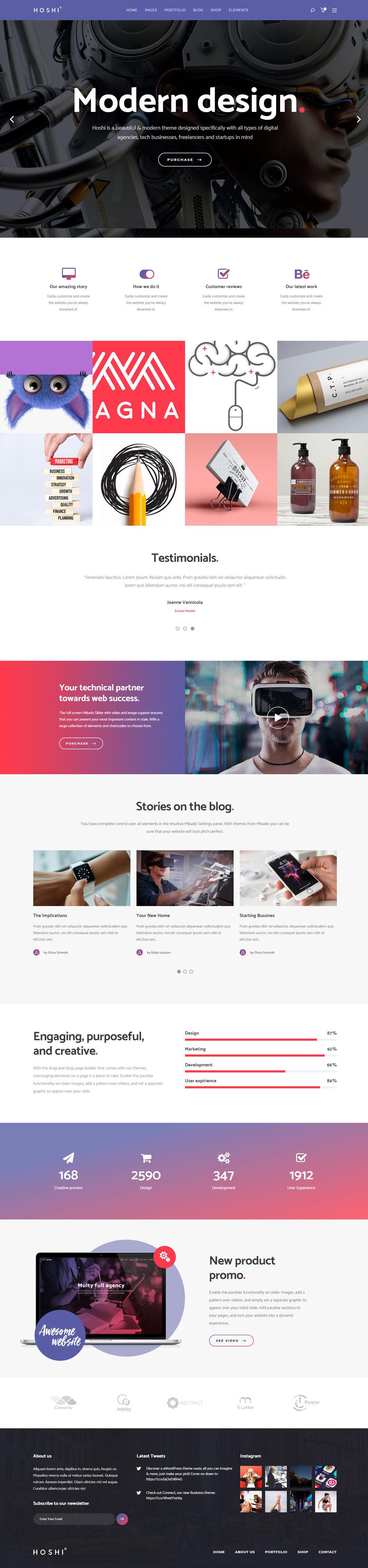 Hoshi - A Modern Theme for Freelancers