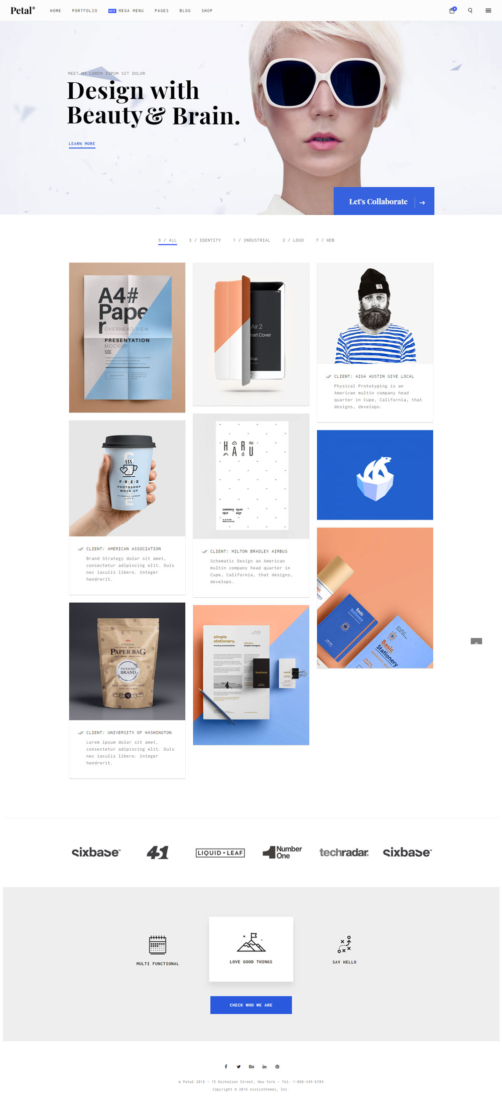Petal - Creative Portfolio for Freelancer