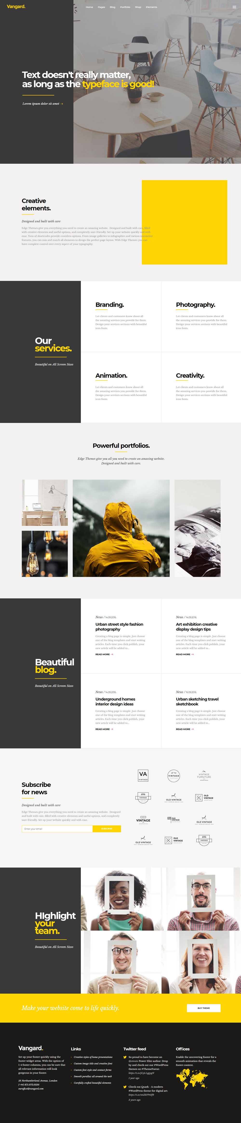 Vangard - WordPress Theme for Freelancers and Agencies