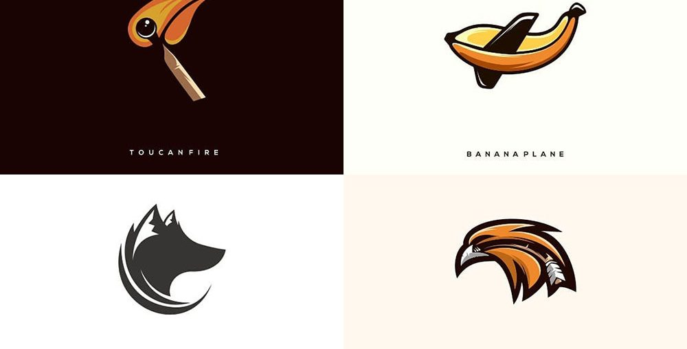 24 Clever Logos by Combining Two Different Things into One